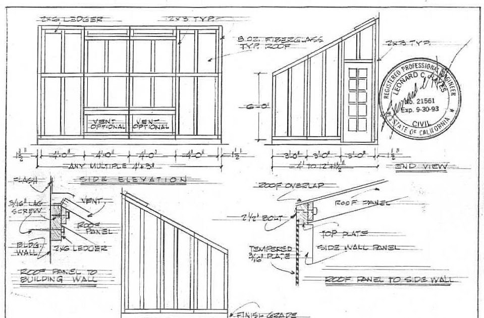 Free shed plans 8x8 online lk mickhael for Lean to style house plans
