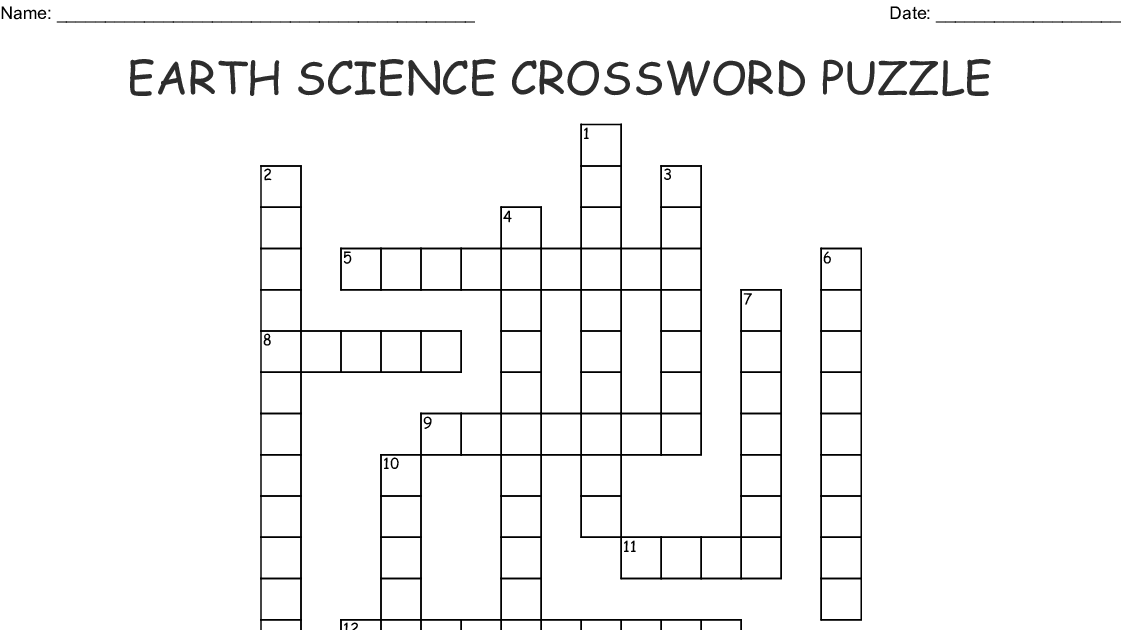 Answer Key Earth Science Crossword Puzzle Answers ...