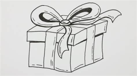 draw  happy birthday gift box  bowknot