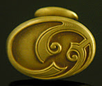 Art Nouveau scroll cufflinks. (J9268)
