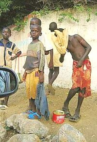 Child beggars in Senegal