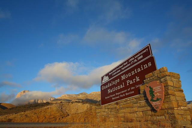 IMG_0841 El Capitan and Entrance Sign, Sunrise