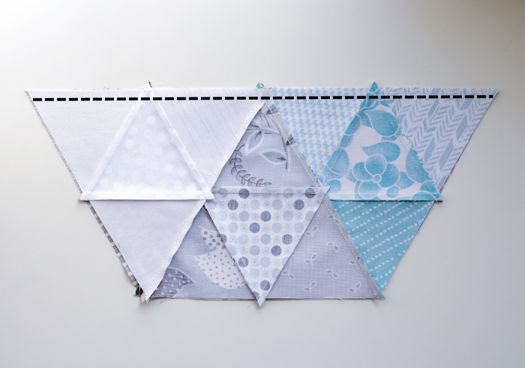 retro mama: triangle hexagon pillow tutorial