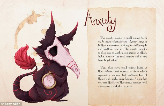 Artist Toby Allen imagines mental illness as monsters ...