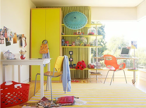 Mark Lund Photography, kids, desk, homeideas, yellow, red, bright, creative, funroom, September, playroom, loft, colorful, photographer, lundphoto.com