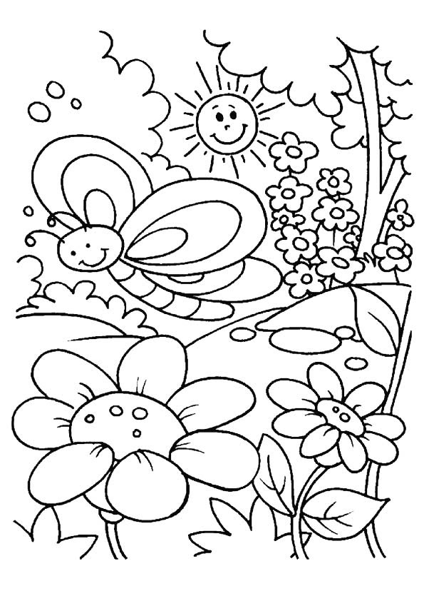 Spring Coloring Pages Educational Coloring Pages Spring Coloring ...   842x595