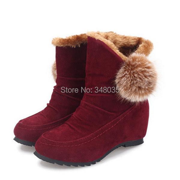 2014 sepatu bot musim dingin, Fashion wanita sepatu salju