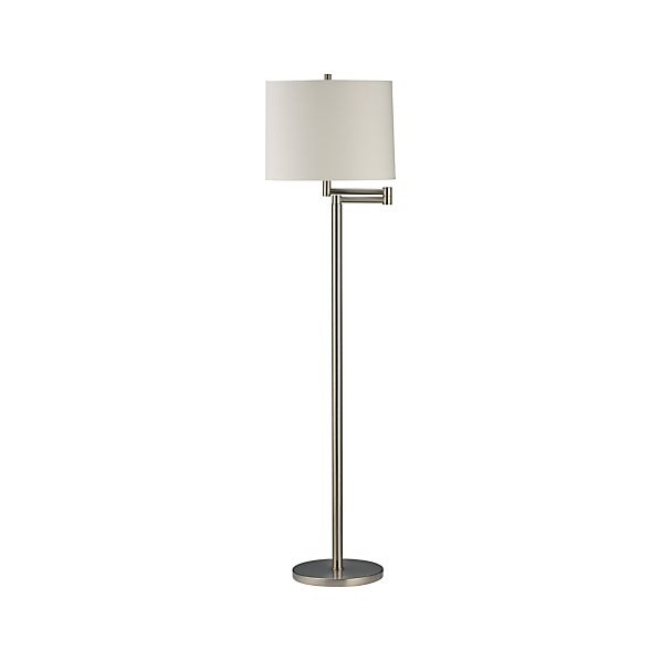 Metro II Brushed Nickel Swing Arm Floor Lamp in Floor Lamps ...