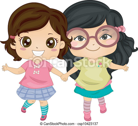 Image result for friends girls clipart