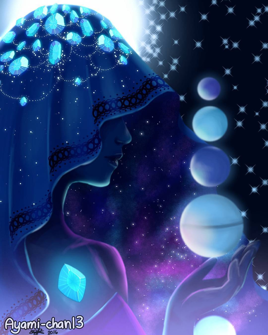 Finally finished 💎Blue Diamond💎 from ⭐Steven Universe⭐!! Its really tiring for my finger to draw the gems and stars x(( Welp, just taking break from drawing so many Undertale stuff xDDD By the way,...