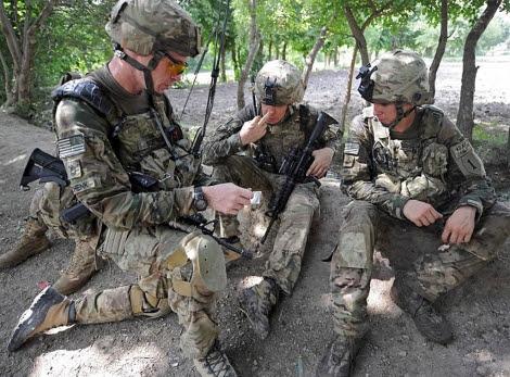 Soldados estadounidenses en la provincia afgana de Khost. | AFP