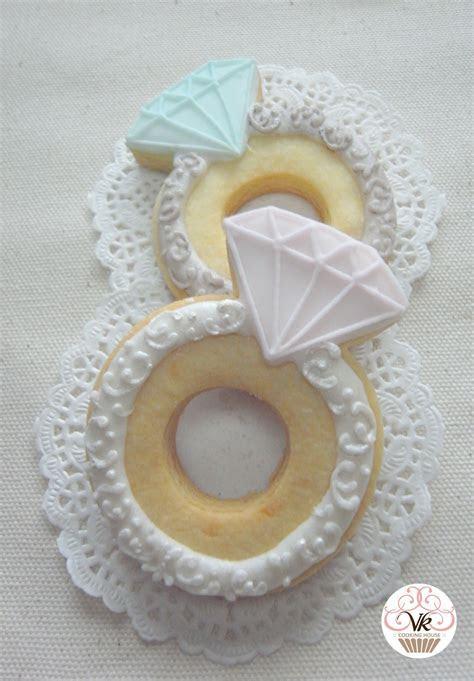Diamond ring cookies   SUGAR COOKIES   Wedding shower