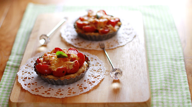 Cherry Tomato Bacon & Cheese Tart