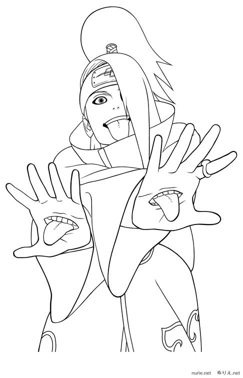 Naruto Nurie 038 ぬりえ Nurienet