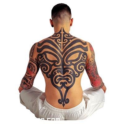 Gran Tribal En La Espalda Tatuajes 123