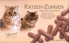 Cat Tongue-shaped Chocolate