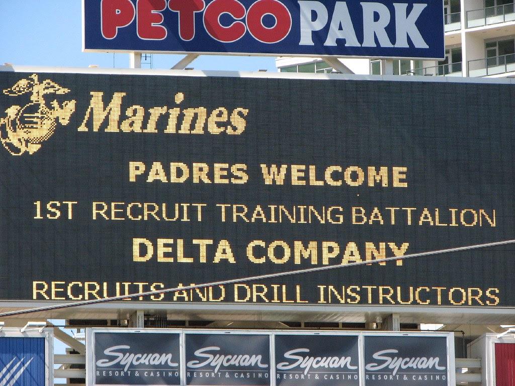 Marines at Petco Park