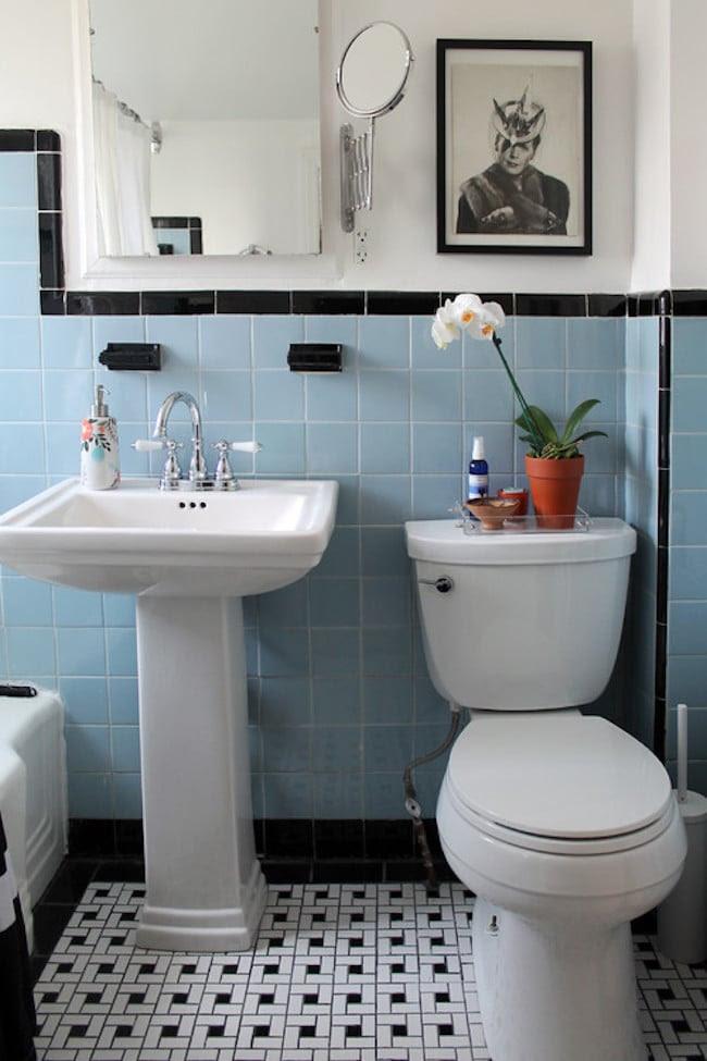 Vintage Bathrooms (My Mint & Pink Bathroom) - The Inspired ...