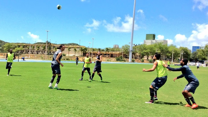 ABC - treino jogadores campo da UFRN (Foto: Assessoria de Comunicação/ABC FC)