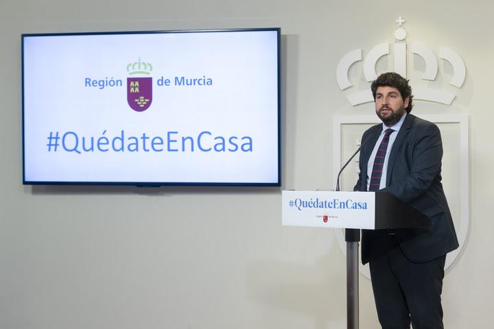 Rueda de prensa del presidente Fernando López Miras