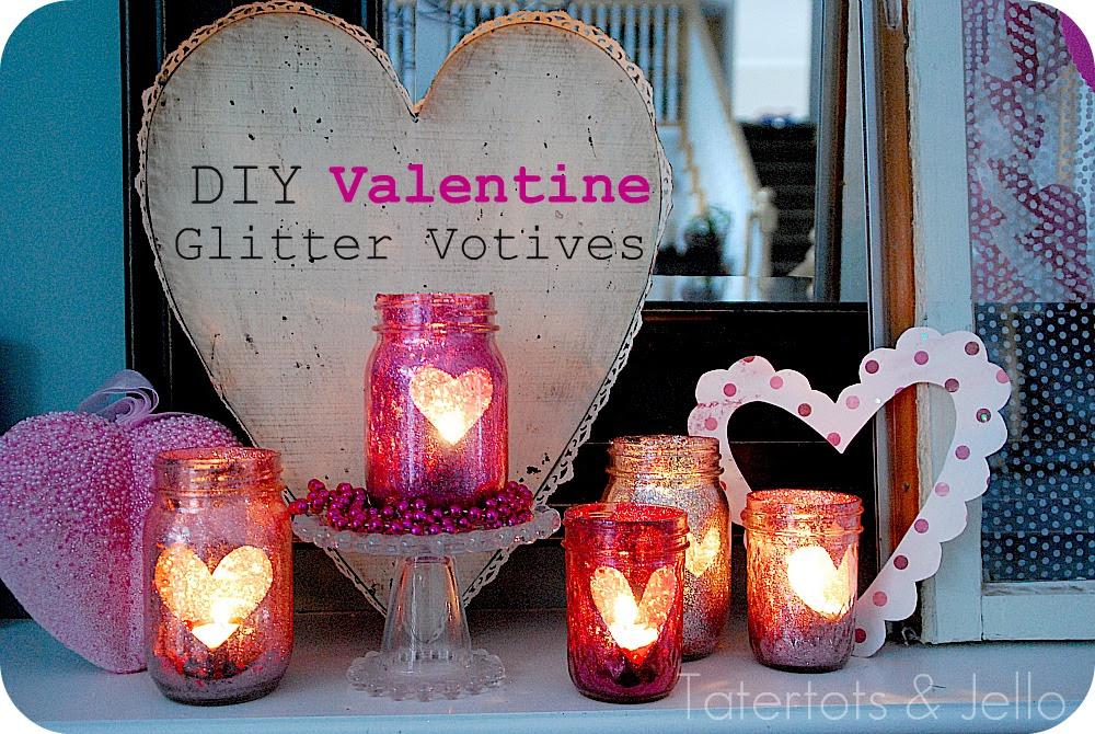 Deck the holidays diy glitter mason jar candle holders heres solutioingenieria Images