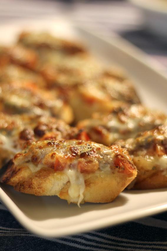 Tosta de tomate y mozzarella