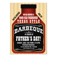 Texas Style BBQ Father's Day Party Invitations