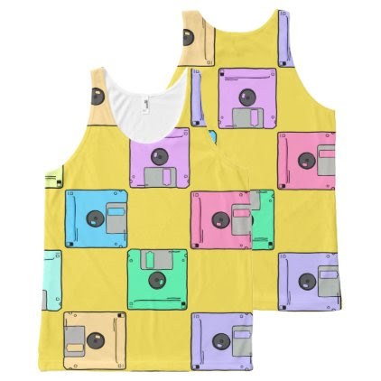 Where's the floppy disk? All-Over-Print tank top