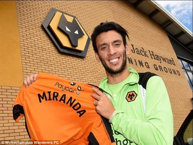 Championship side Wolves have completed the signing of  defenderRoderick Miranda