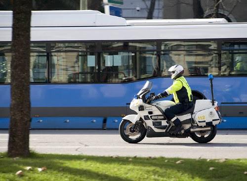 Policía y transporte público