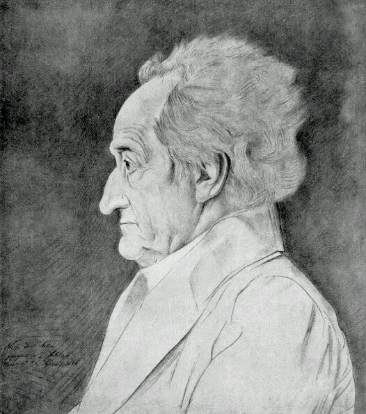 Goethe, por Ludwig Sebbers (1826)