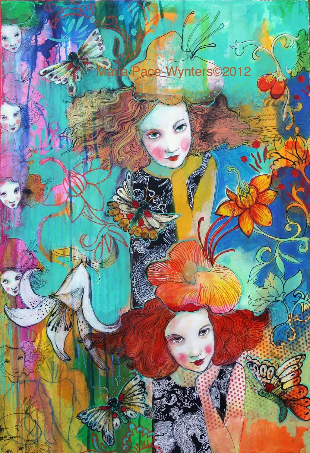 Recurring Dream- Original mixed media painting by Maria Pace-Wynters