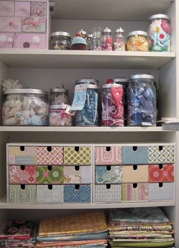 Haberdashery shelves