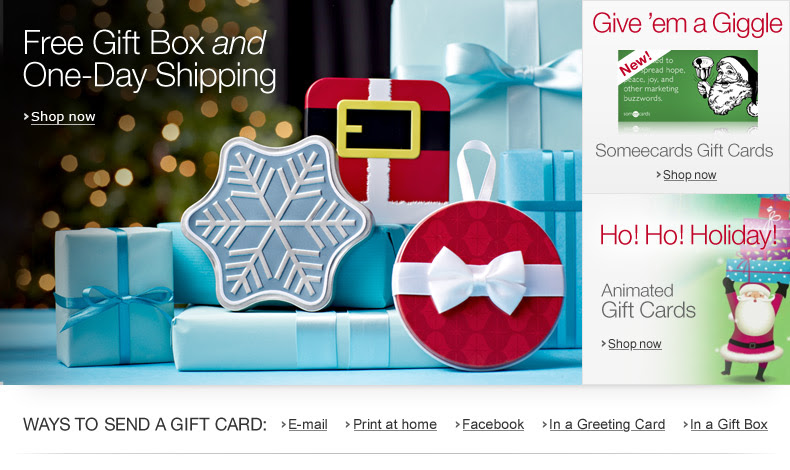 Amazon.com Gift Cards for the Holidays