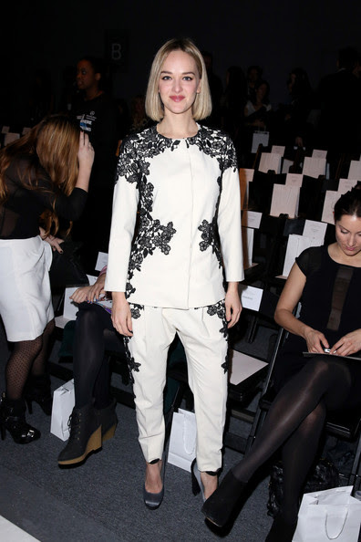 Jess Weixler - Lela Rose - Front Row - Fall 2013 Mercedes-Benz Fashion Week