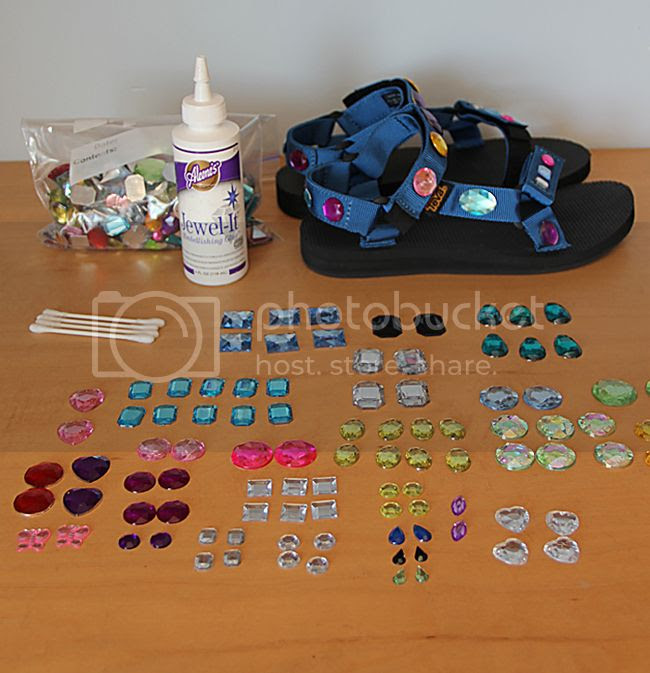 LA fashion blogger The Key To Chic shows how to make DIY jeweled Teva sandals inspired by the spring 2014 Prada runway.