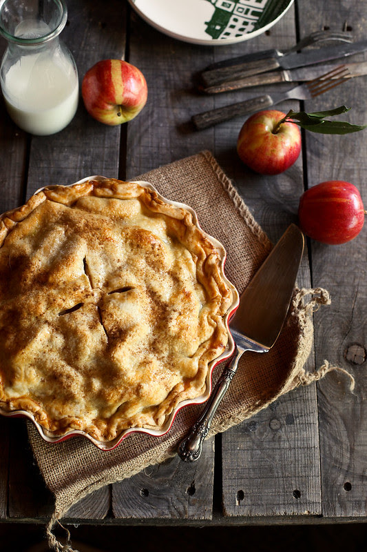 Cider Caramel Apple Pie