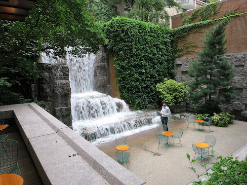 greenacre park waterfall manhattan nyc