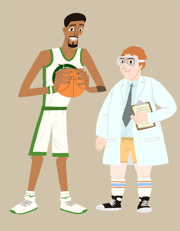 NBA/NRDC characters in color