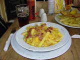 Chips with cheese and bacon