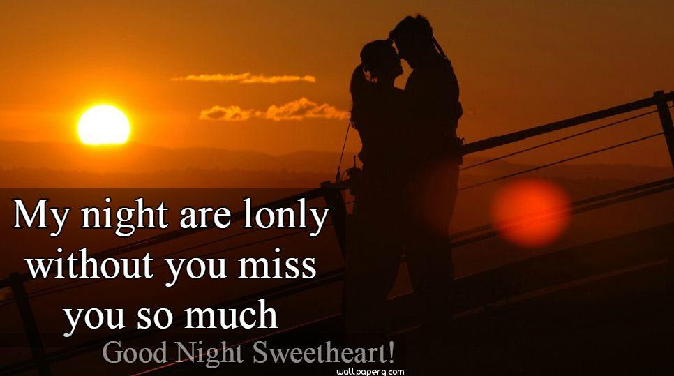 Download Miss You Wala Good Night Sweetheart Good Night Wallpaper