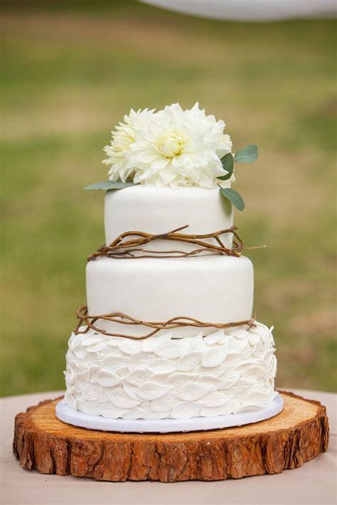 Whimsical Woodland Wedding Cake   Leah Marie Photography