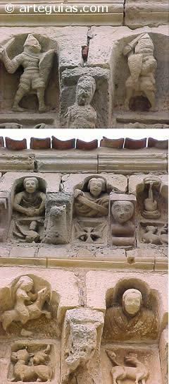 Cornisa de la iglesia de Sotosalbos