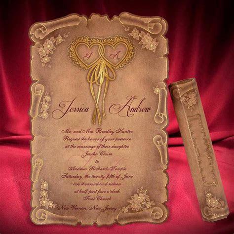 Scroll Wedding Invitation Card Creative Personalized