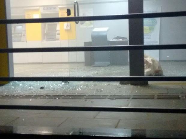 Banco de Afrânio foi explodido (Foto: Divulgação/Polícia Militar)