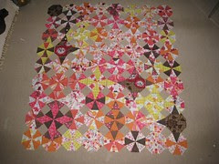 Sanctuary quilt - laid out