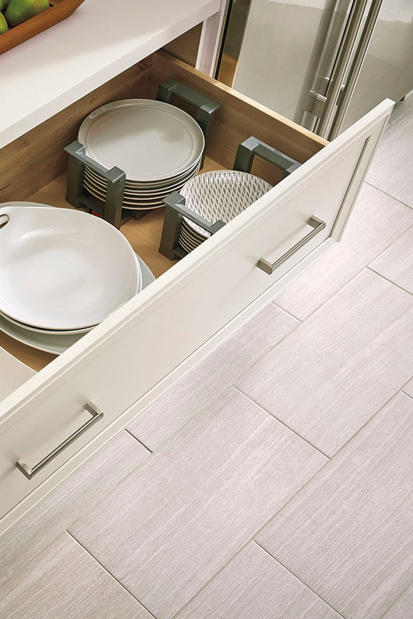 Wide Cabinet Drawer with Plate Holder - Kitchen Craft