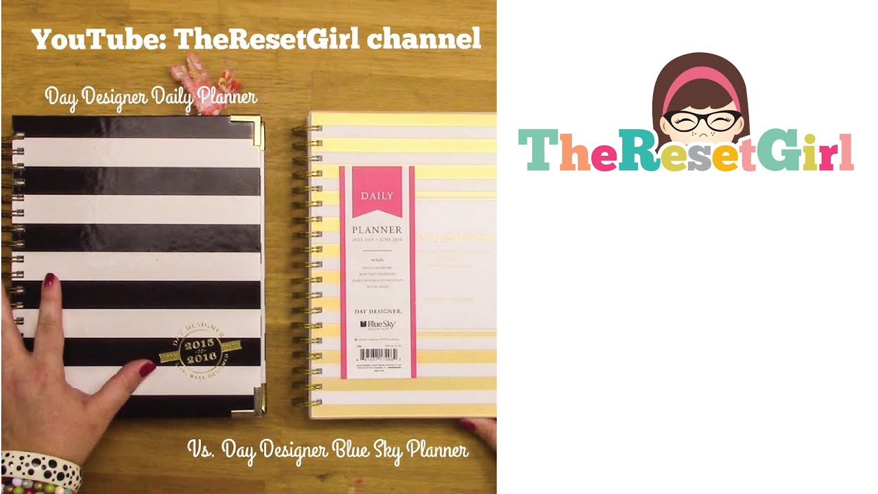 The Day Designer Daily Planner and Day Designer Blue Sky Daily ...