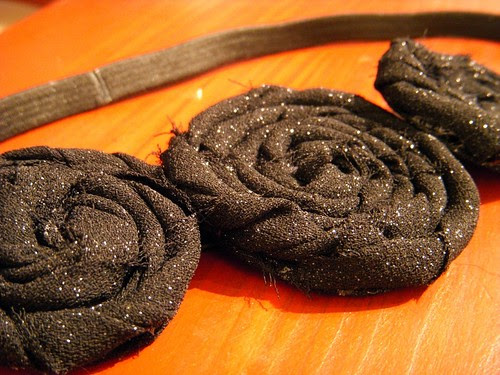 Sparkly Fabric Flower Headband