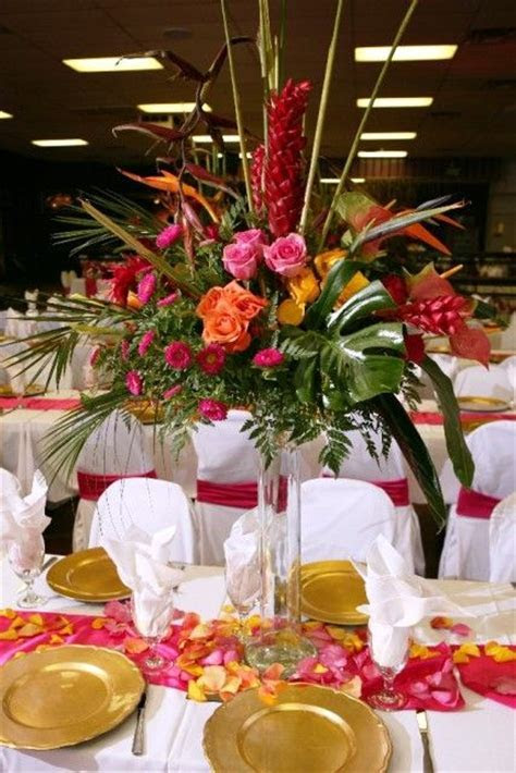 Tropical Centerpiece Ideas   Welcome to Bisli Event